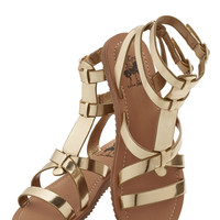 Glimmer is Served Sandal in Gold | Mod Retro Vintage Sandals | ModCloth.com