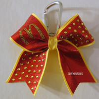 McDonalds Rhinestone Key Chain Cheer Bow Cheerleading