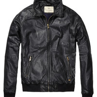 Classic Leather Bomber Jacket - Scotch & Soda