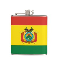 Bolivian flag Flask