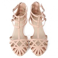 Bamboo Lynna-80 Strappy Cut Out Sandals | MakeMeChic.com