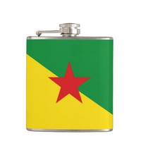 French Guianese flag Flask