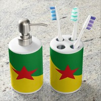 French Guianese flag bath set