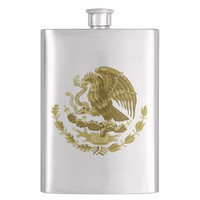 Mexican coat of arms flask
