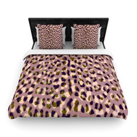 "Vasare Nar ""Leo Cheetah"" Animal Pattern Fleece Duvet Cover"