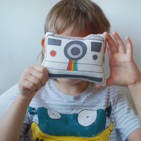 Retro Polaroid Camera Printed Pillow Kids Toys