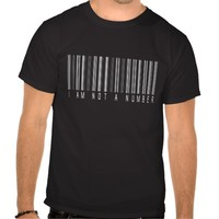 I Am Not A Number - Barcode Political Statement T-Shirt For Men, Women and Children