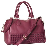 Moda Luxe Satchel Handbag with Removable Strap - Burgundy