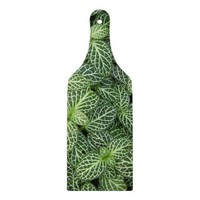 Green Foliage Glass Cutting Board
