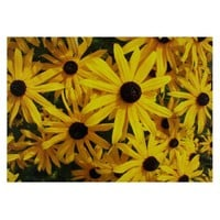 Black Eyed Susans Glass Cutting Board