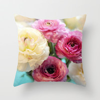Damsels Throw Pillow by Lisa Argyropoulos