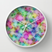 Pastel Dream Wall Clock by Alice Gosling