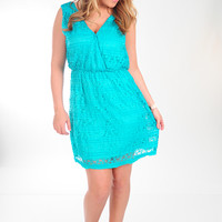 Seascape Lace Dress: Turquoise