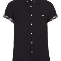 BLACK STARS CONTRAST SHORT SLEEVE SHIRT - Short Sleeve Shirts - Men's Shirts - Clothing - TOPMAN