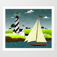 The Lighthouse Art Print by Sandra Bauser Digital Art