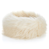 Wow Faux Fur Ski Bando | Cream | Accessorize