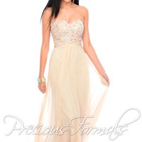Precious Formals P10538 Strapless Evening Gown