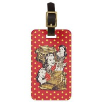 Quirky Office Gals Custom Luggage Tag from Jan4insight* on Zazzle