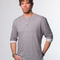 Duofold Henley - Heather Grey : Marine Layer