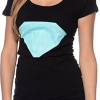 Diamond Supply Co Women's Big Brilliant Scoop Black Tee Shirt
