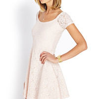 Sweet Lace Off-The-Shoulder Dress