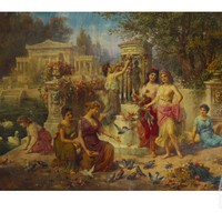 The Feast of Venus Print by Emmanuel Oberhauser at Art.com