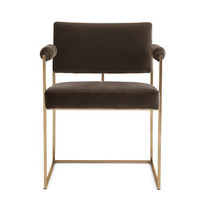 Milo Baughman 1188 Chair in Fabric, Bronze