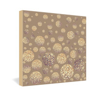 Lisa Argyropoulos Bokeh Dots Cafe Latte Gallery Wrapped Canvas