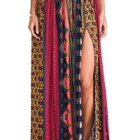 NOVELLA ROYALE Strange Melody Skirt in Red Ethnic Floral from REVOLVEclothing.com
