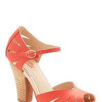Seychelles On the Floor Heel in Coral | Mod Retro Vintage Heels | ModCloth.com