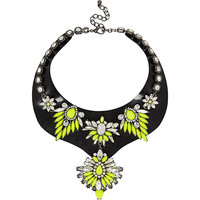 Fluro yellow jelly statement necklace - necklaces - jewelry - women