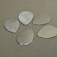 Sterling silver teardrop guitar picks 18 gauge Qty 5