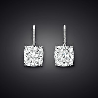 Diamond Drop Earrings, 20.25 Carats