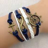 Navy Nautical Set
