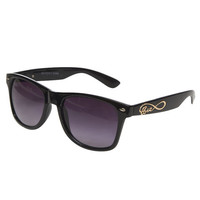 Infinite Love Temple Wayfarer Sunglasses | Wet Seal