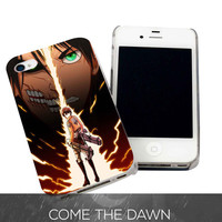Eren Attack On Titan for iPhone 4, iPhone 4s, iPhone 5 /5s/5c, Samsung Galaxy S3, Samsung Galaxy S4 Case