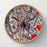 RED Wall Clock by DuckyB (Brandi)
