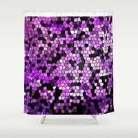 STAINED GLASS PURPLES Shower Curtain by Catspaws