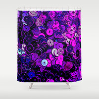 ROUND AND ROUND Shower Curtain by Catspaws