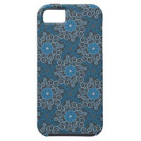 Blue Damask Pattern iPhone 5 Case