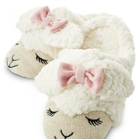 Lambie Count Sheep Slippers - Medium/Large Cream