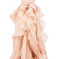 REEM ACRA embellished ruffled dress