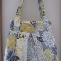 Pleated Handbag Purse Ipad Netbook Tote Ophelia in Gray