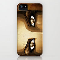 Steampunk Girl Eyes iPhone & iPod Case by Bluedarkat Lem