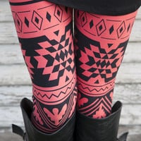 Salmon River Aztec Leggings