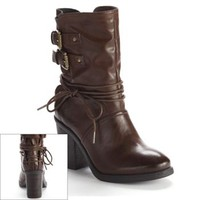 HeartSoul Adria High-Heel Midcalf Moto Boots - Women