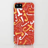 Alphabet pattern 4 iPhone & iPod Case by mollykd