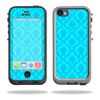 Protective Vinyl Skin Decal Cover for LifeProof iPhone 5C Case fre Case Sticker Skins Blue Vintage