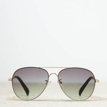 AEO Women's Aviator Sunglasses (Gold)