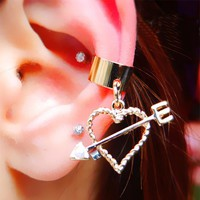 Love Arrow Ear Cuff (Single, No Piercing)